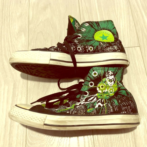 0789649d1eb9 Converse Shoes - Converse All Star Hi DC Comics Green Lantern shoes